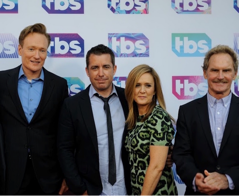 Photo: (From left to right): Conan O'Brien, Jason Jones, Samantha Bee, Jere Burns