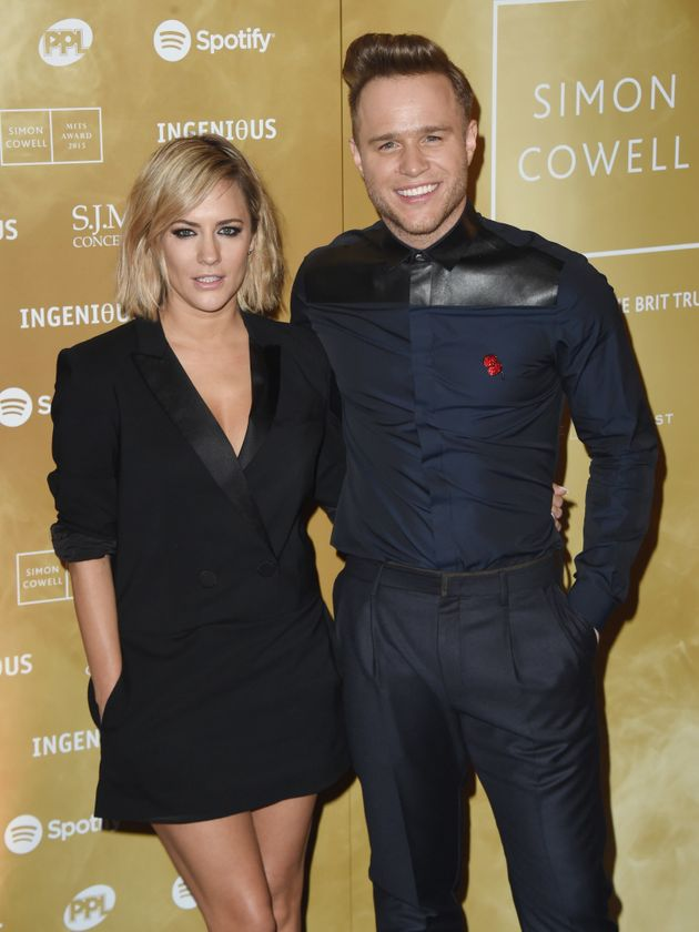 Caroline with her former 'X Factor' co-host Olly
