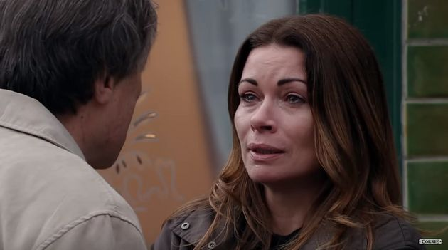 Carla made a tearful exit from the Street in