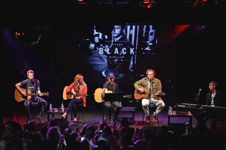 Dierks Bentley, Jessi Alexander, Ross Copperman, Luke Dick and Ashley Gorley perform Last Call Ball: Songs From The Black Alb