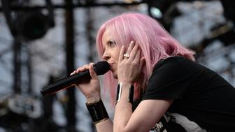 IRVINE, CA - MAY 14:  Singer Shirley Manson of the band Garbage performs onstage during KROQ's Weenie Roast at Irvine Meadows Amphitheatre on May 14, 2016 in Irvine, California.  (Photo by Scott Dudelson/WireImage)