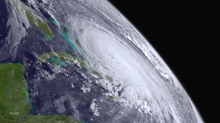 Hurricane Joaquin is pictured off the east coast of the United States in this NOAA photo taken October 1, 2015.