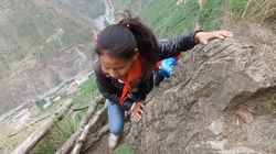 Watch These Chinese Kids Scale A 800-Metre Cliff To Get To