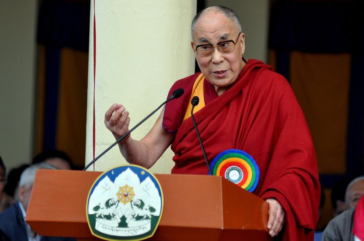 The Dalai Lama delivered aspeech during swearing-in ceremony of Tibetan Prime Minister in-exile Lobsang Sangay at the T