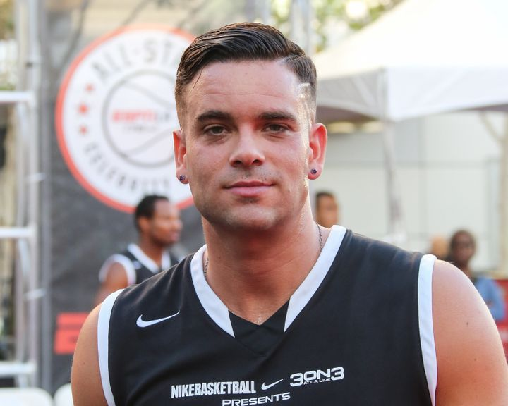 Mark Salling kicks off the 2015 Nike 3ON3 basketball tournament at L.A. LIVE on Aug. 7, 2015 in Los Angeles, California.