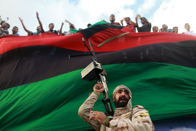 People protest against candidates for a national unity government in Libya in October. The...