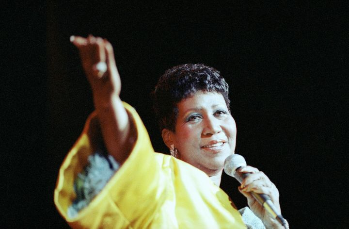"Among Aretha Franklin's most famous hits was her signature song, ""Respect,"" which became a rallying cry for women as well as"