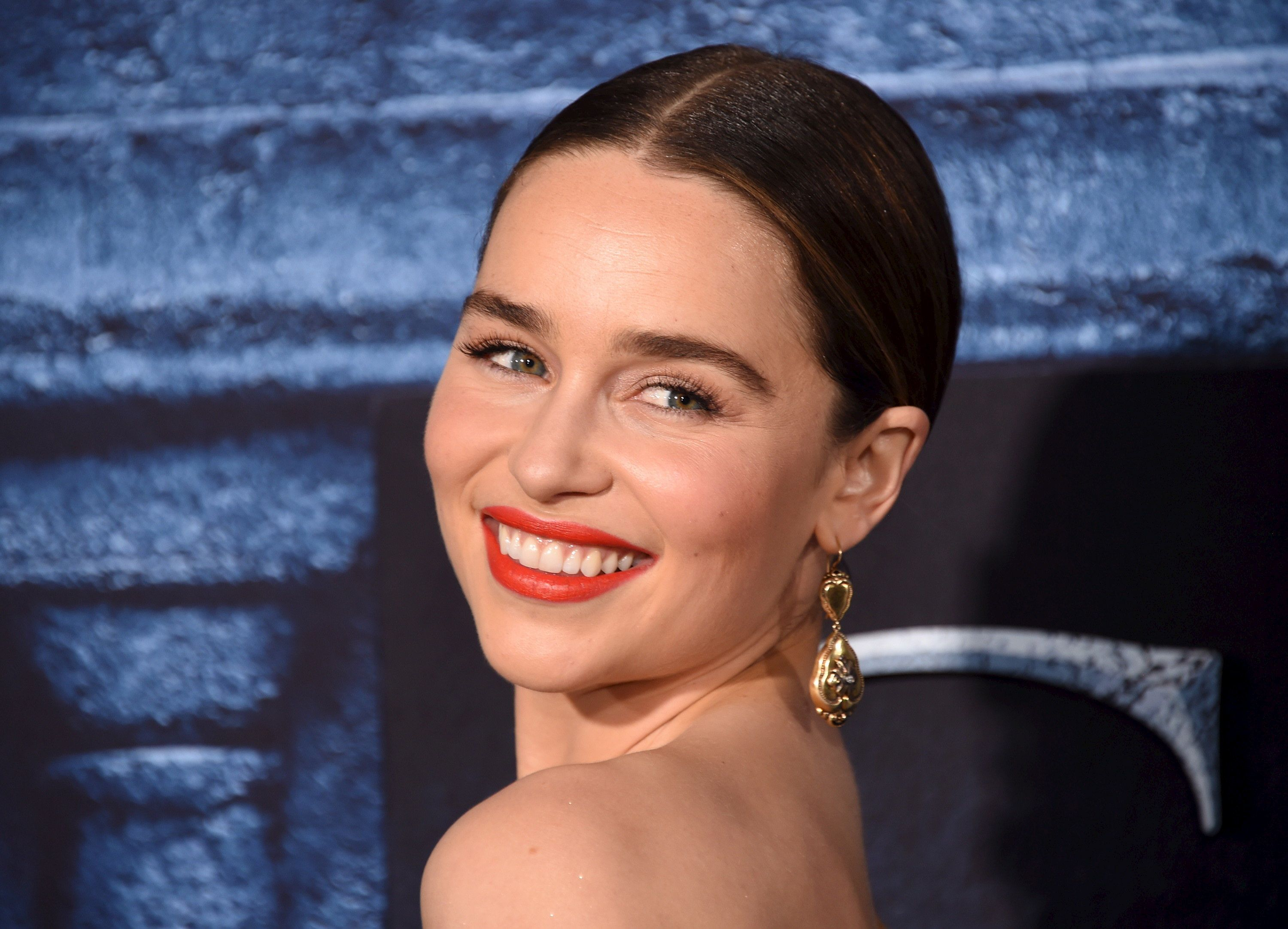 "Cast member Emilia Clarke attends the premiere for the sixth season of HBO's ""Game of Thrones"" in Los Angeles April 10, 2016. REUTERS/Phil McCarten"