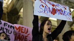 Pictures Show Defiant Protests After Gang Rape Leaves Brazil In