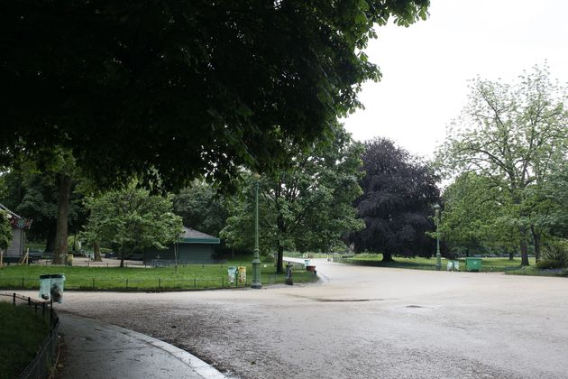 A view of the park after it was