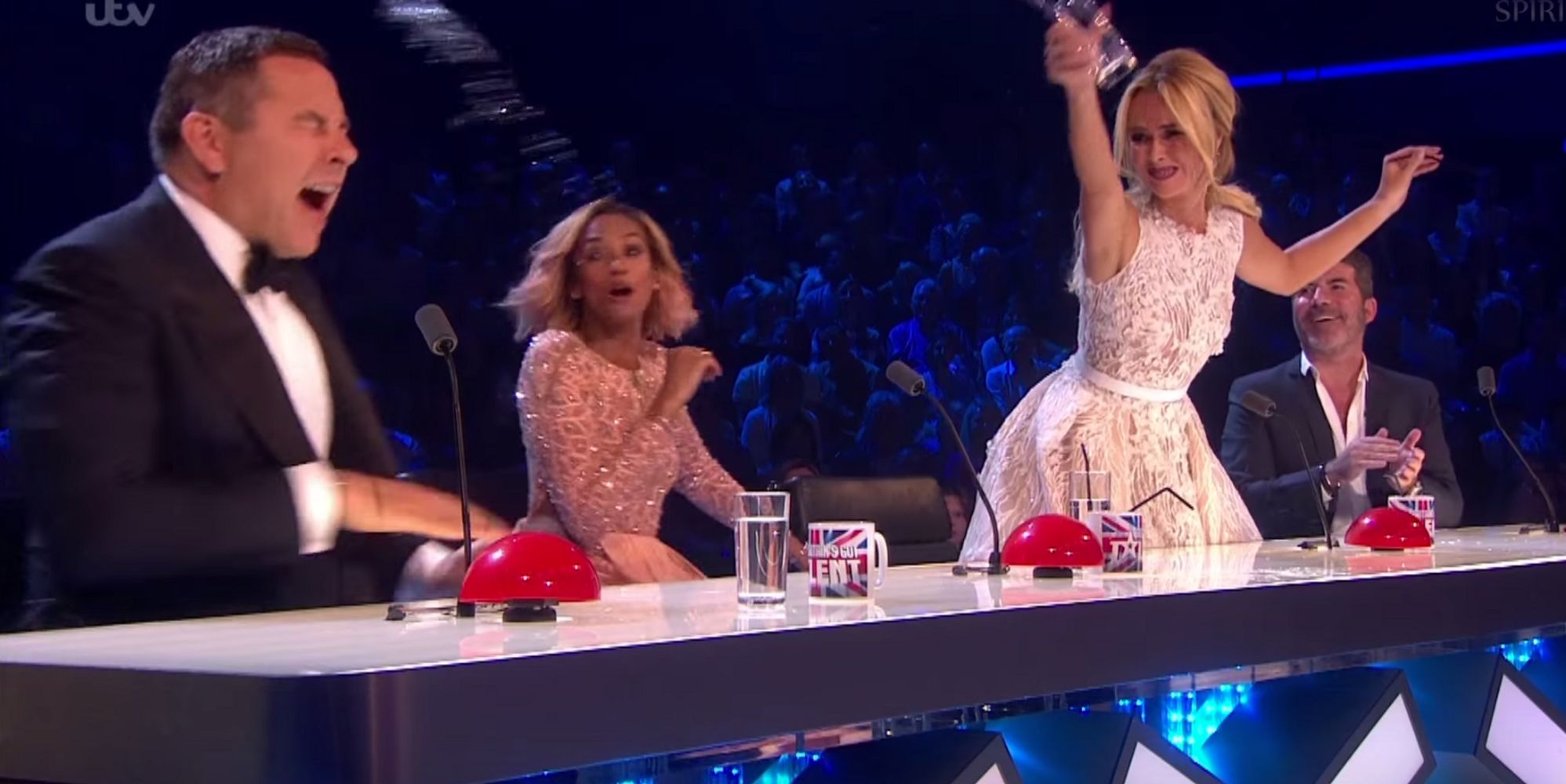 39 Britain 39 S Got Talent 39 Amanda Holden Throws Water Over