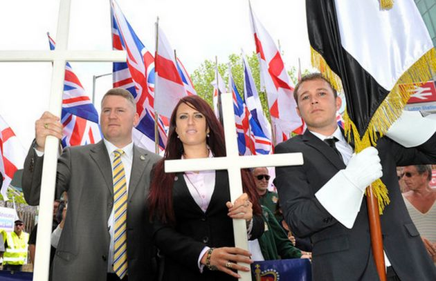Britain First leader Paul Golding and his deputy Jayda