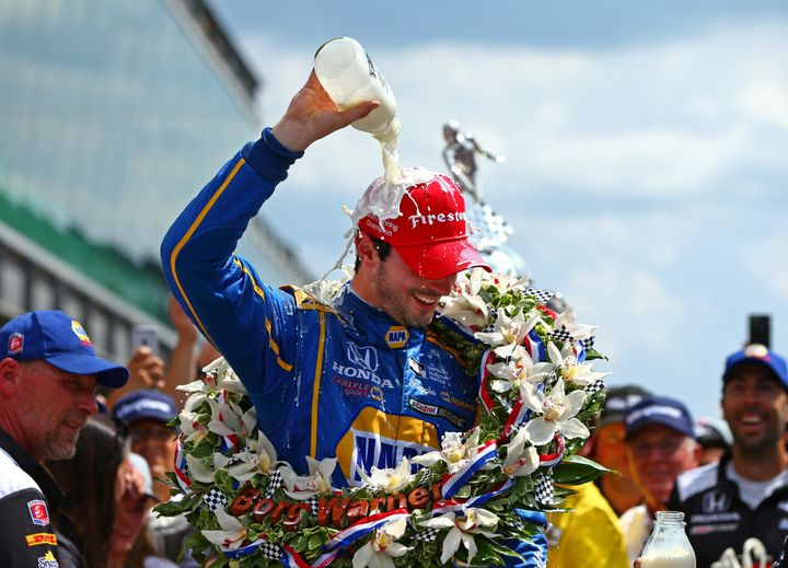 Rossi's victory was thefirst win by a rookie since Juan Pablo Montoya in 2000.