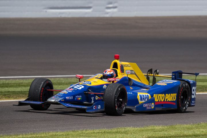 Rossifound himself on top of the motorsports world after squeezing just enough fuel out of his Andretti Autosport Honda