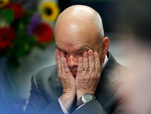 Former NSA/CIA Director Michael Hayden pauses while he speaks during a Reuters CyberSecurity Summit in...