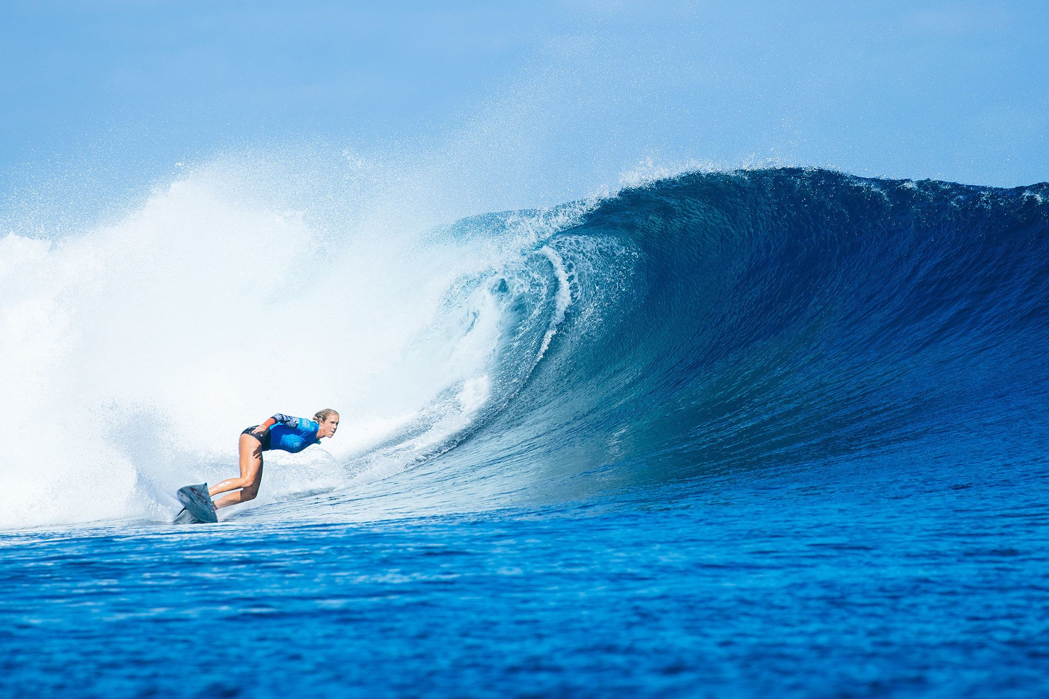 Bethany Hamilton caused a huge upset during round two of the Fiji Womens Pro.