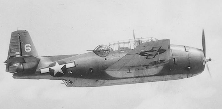 A TBM-1C Avenger torpedo bomber.