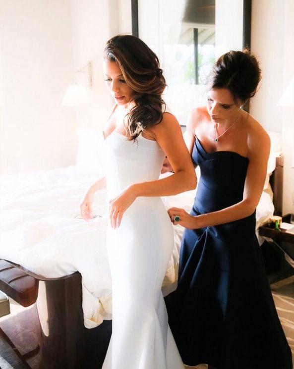 Victoria Beckham Dresses Eva Longoria In Stunning Unseen Wedding