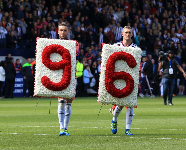 96 Liverpool FC fans were killed in the 1989 disaster at Sheffield Wednesday's Hillsborough