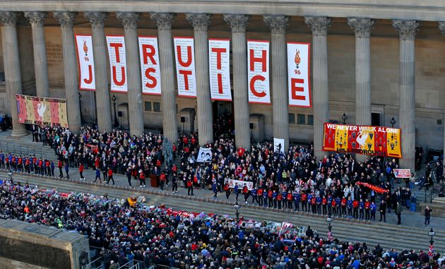 Liverpool residents celebrated 'truth' and 'justice' after it was revealed all96 LFC fans were...