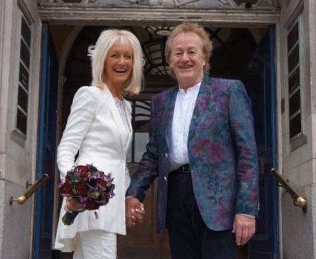 Jane and Freddy tied the knot after three decade together, before celebrating at