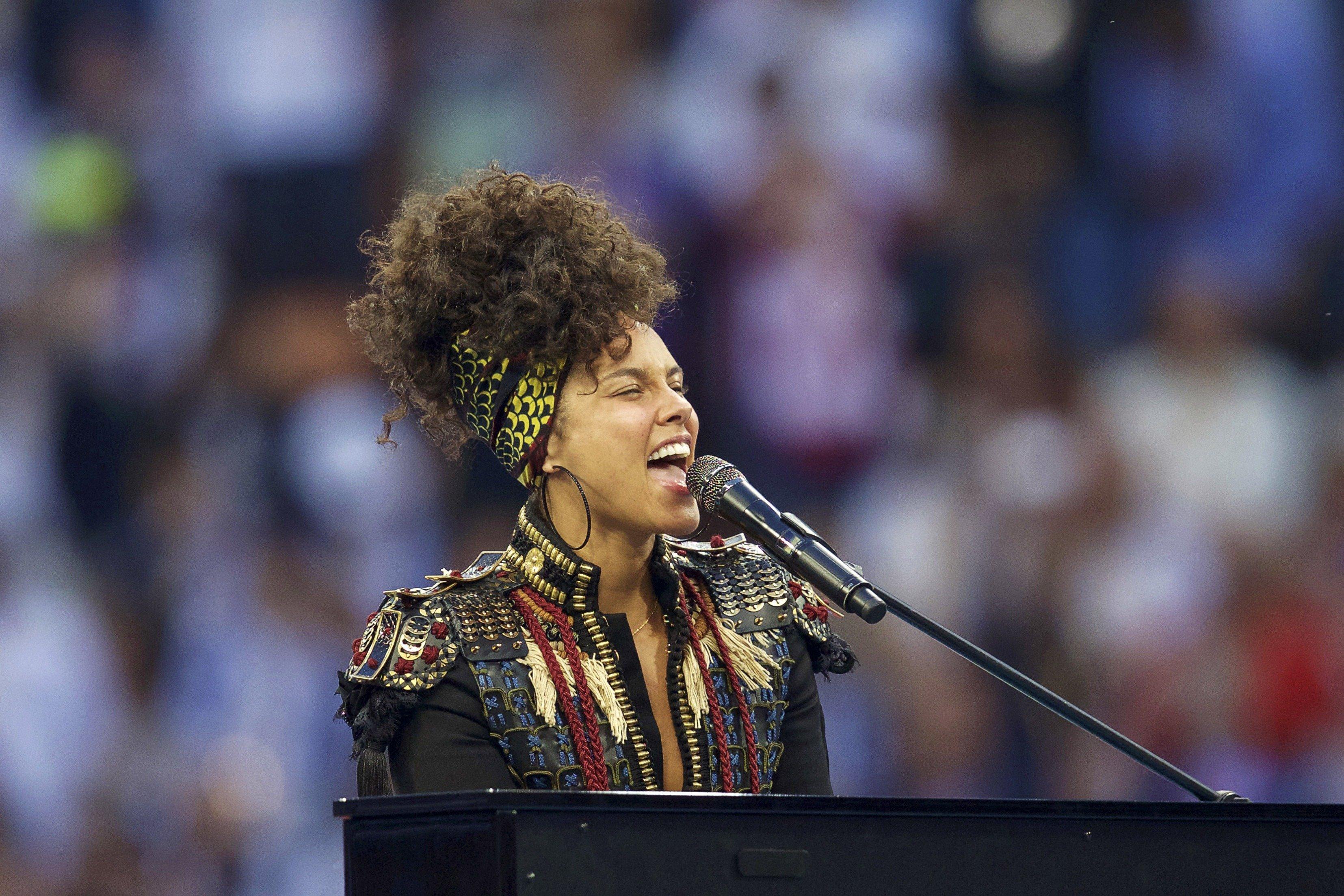 "Alicia Keys performs her new single, ""In Common,"" in Milan last weekend."