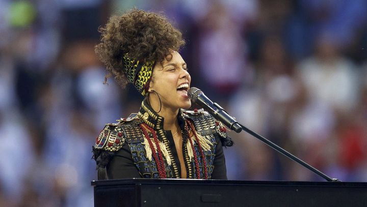 "Alicia Keys performs her new single, ""In Common,"" in Milan last weekend."