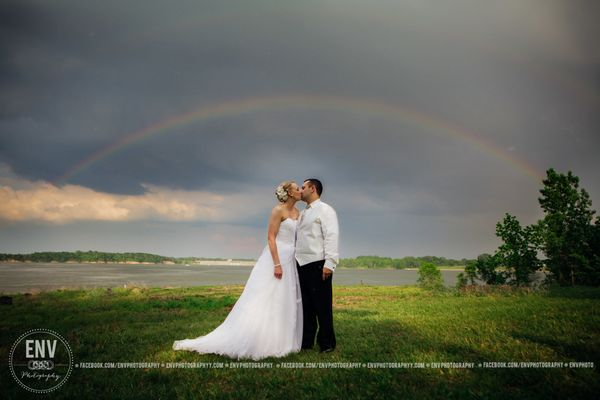 """Shana and Chris were married at Deer Creek State Park in Mount Sterling, Ohio on May 28."" -- <i>Rebecca Cook</i>"