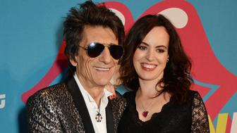 LONDON, ENGLAND - APRIL 04:  Ronnie Wood (L) and Sally Wood attend a private view of 'The Rolling Stones: Exhibitionism' at The Saatchi Gallery on April 4, 2016 in London, England.  (Photo by David M. Benett/Dave Benett/Getty Images)