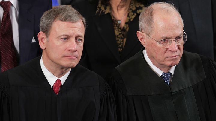 Since John Roberts (left) became chief justice,many hard caseshave swung onJustice Anthony Kennedy's vote.