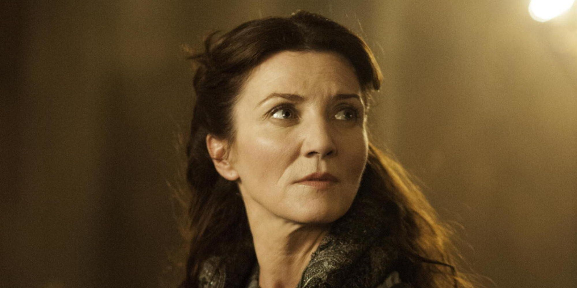 Michelle Fairley as Lady Catelyn Stark.