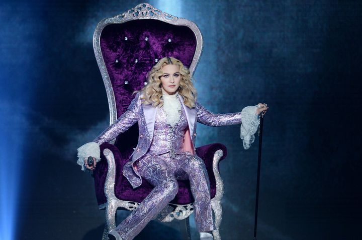 Recording artist Madonna performs a tribute to Prince onstage during the 2016 Billboard Music Awards at T-Mobile Arena on May