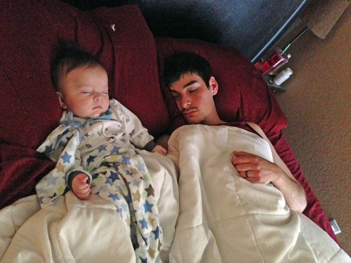 Chris and his son, Vincent; photo courtesy of Ashley Richards Otero