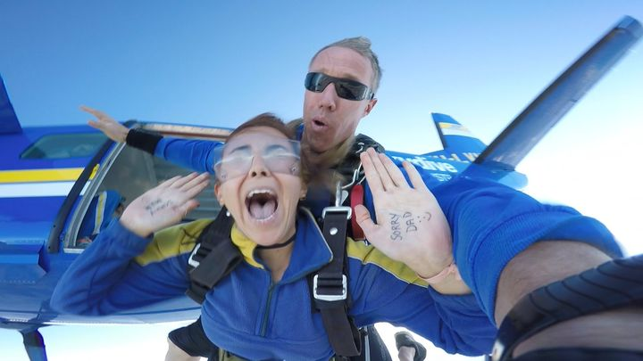 Skydiving in Wollongong, Australia (for the first time)<br />May 2016.