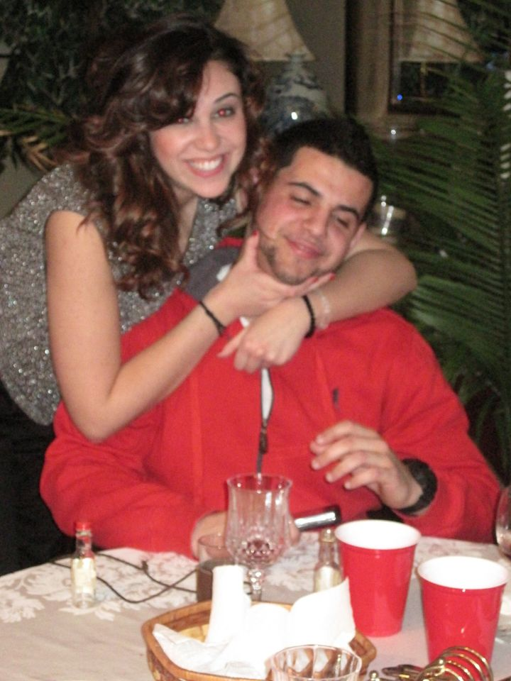 My brother and I on my 21st birthday. February 2010.