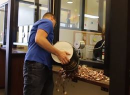 Angry Driver Walks Away Triumphantly After Paying Speeding Ticket With 22,000 Pennies