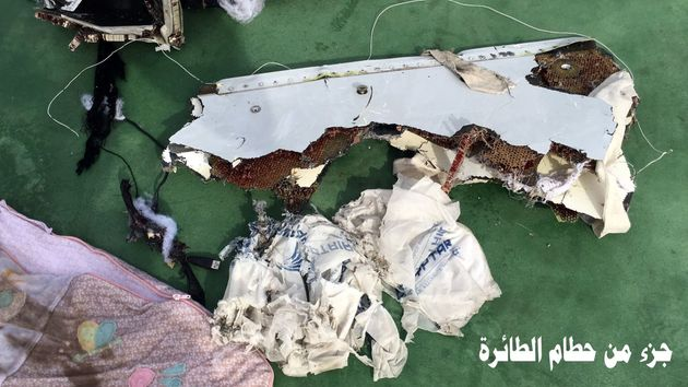 An image showing recovered debris of the EgyptAir jet that crashed in the Mediterranean Sea released...