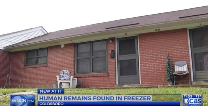Police in North Carolina are investigating after human remains were allegedly found in a freezer that came out of this home.
