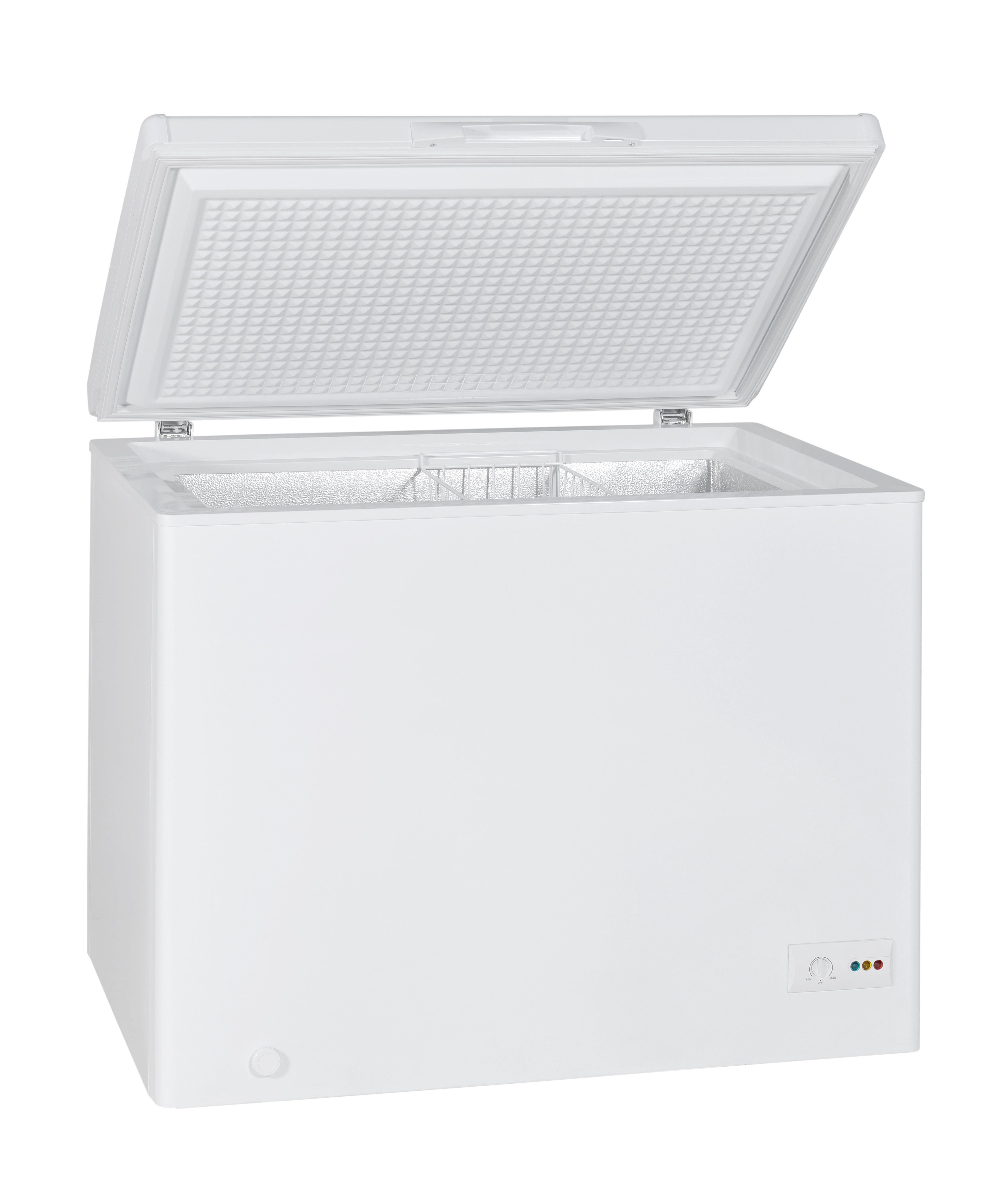 Home chest freezer isolated with clipping path