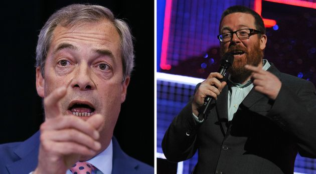 Frankie Boyle on former Ukip leader Nigel Farage: A face that only a mother could abandon to the...