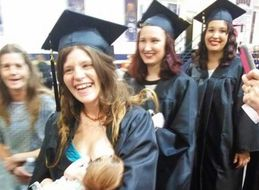 Not Even Graduation Could Keep This Mama From Breastfeeding Her Baby