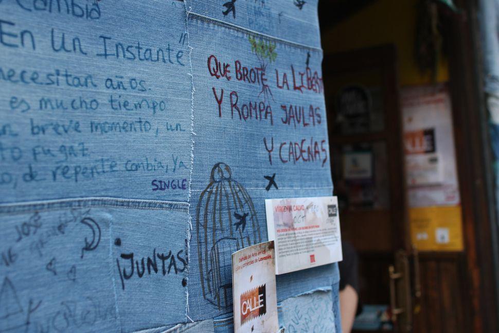 "An artwork by <a href=""https://es-es.facebook.com/pages/Virginia-Calvo/186010861408913"">Virginia Calvo</a> for the Mexican re"