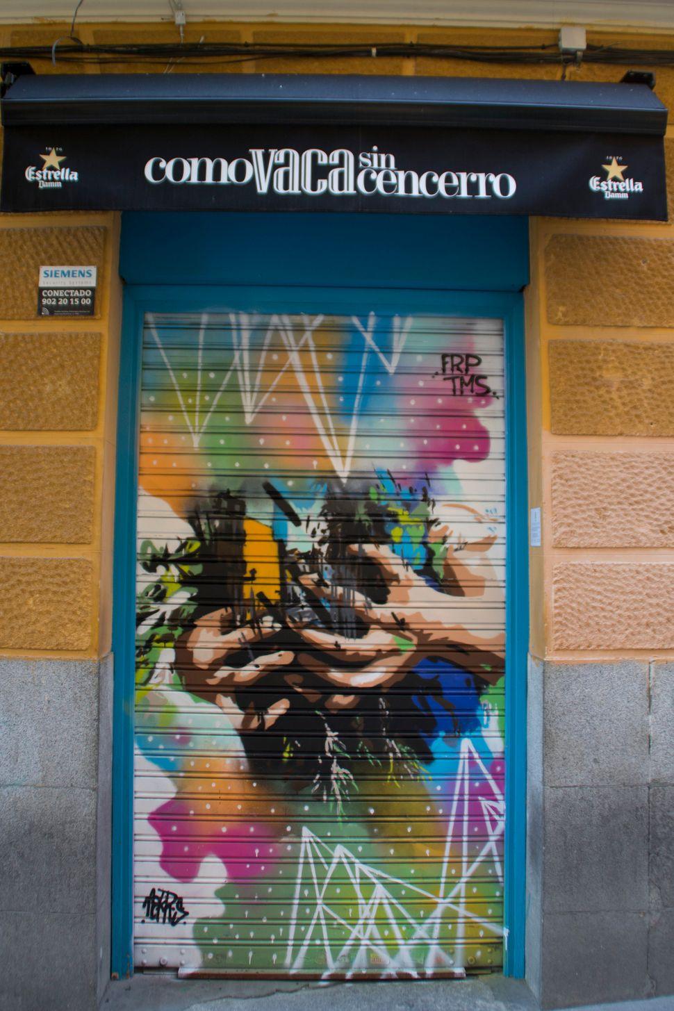 """An artwork by Nekros for the bar <a href=""""https://www.facebook.com/Comovacasincencerro/"""">Como vaca sin cencerro</a>."""