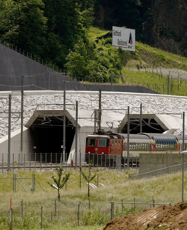 The train will cut passengers' travel time between Zurich and Lugano, just north of the Italian border, by about 45 minutes.