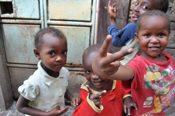 Children in Nairobi's Mathare slum.
