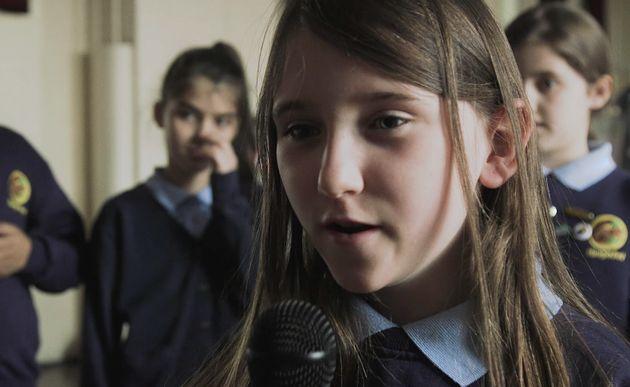 The newsreader was interviewed by school