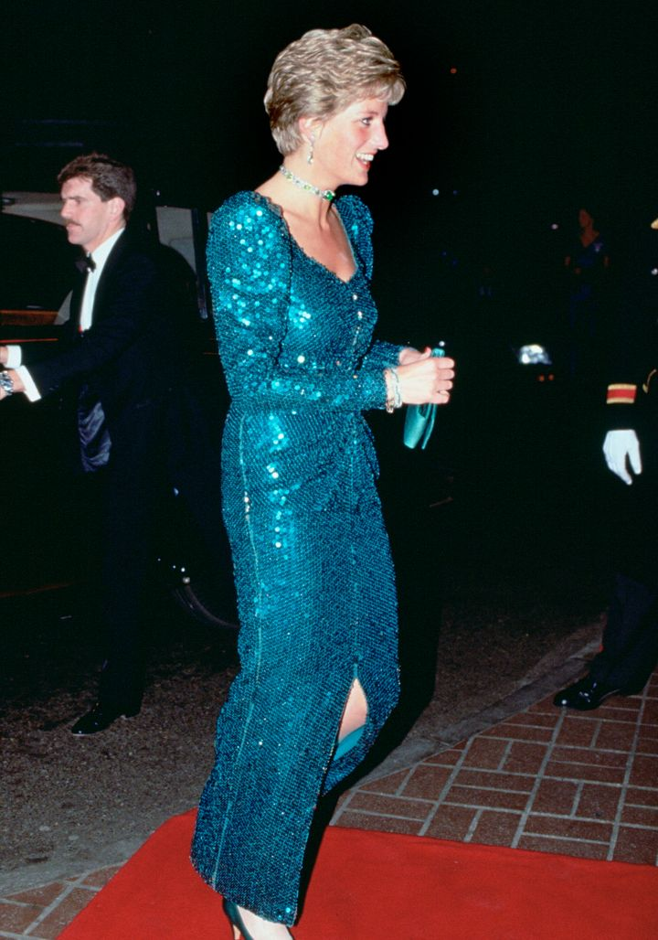 Diana at the Diamond Ball in London, 1990