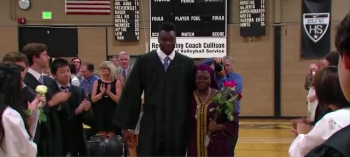 Tertsea and Ikpum got a standing ovation at graduation.