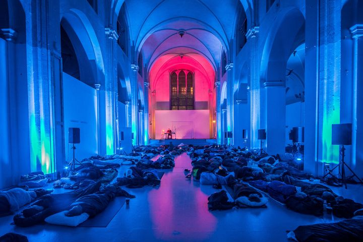 Robert Rich's Sleep Concert at the CPH PIX Film Festival in Copenhagen, Denmark, in 2015.