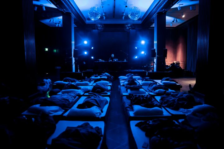 Robert Rich's Sleep Concerts -- like the one pictured here that took place at Moogfest in Durham, North Carolina, last month